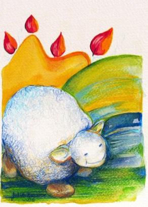 Illustration animalière - mouton