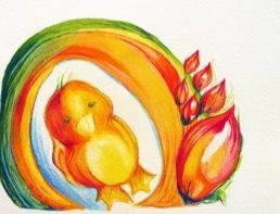 Illustration animalière - poussin