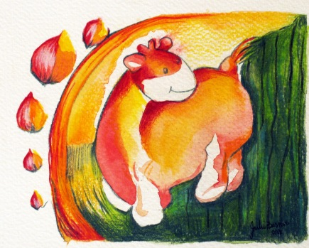 Illustration animalière - vache