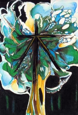 Ciel sous les feuilles