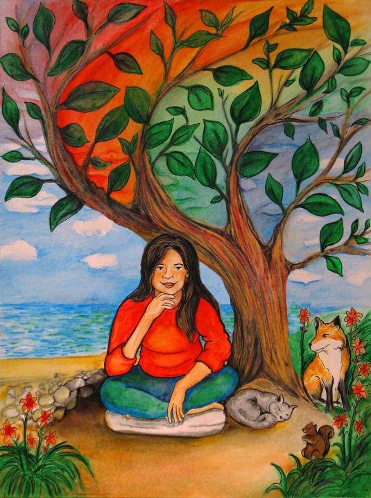 La jeune fille et l'arbre